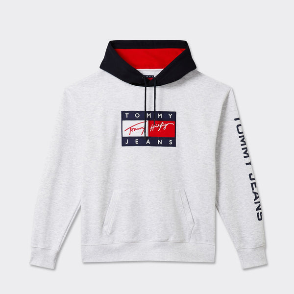 TOMMY JEANS - TJ Street Archives Hoodie 11 Silver Grey Heather / Multi