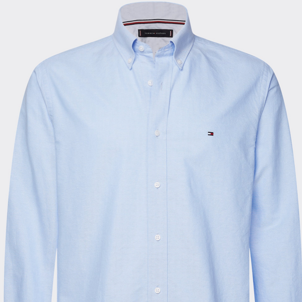 Tommy Hilfiger - Tommy Hilfiger Core Stretch Slim Oxford Shirt - Blue & Bright White
