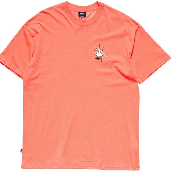 Stussy - Crown SS Tee HOT CORAL