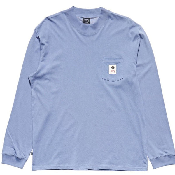 Stussy - Pocket L/S Tee DUSTY BLUE