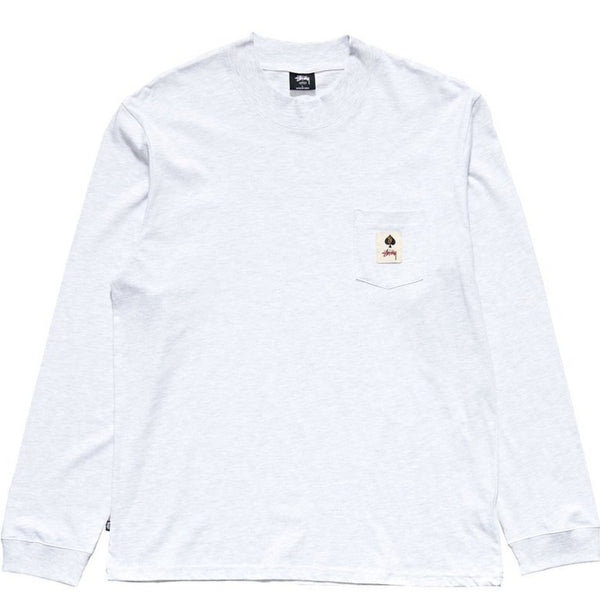 Stussy - Pocket L/S Tee SNOW MARLE