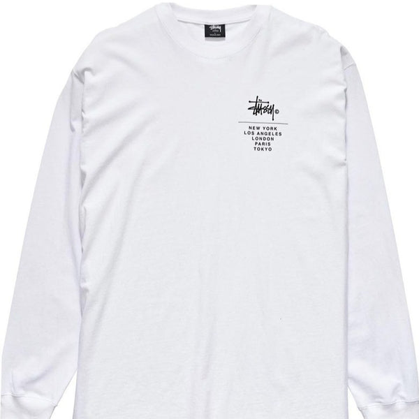 Stussy - City Stack LS Tee WHITE