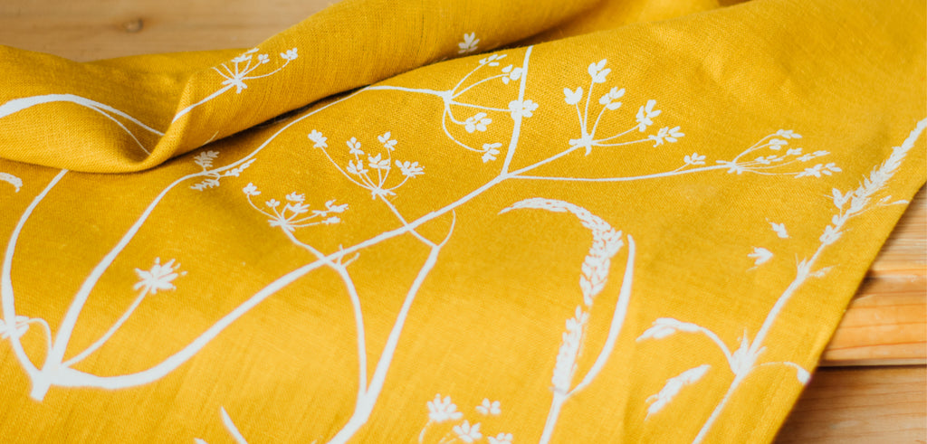 Introducing Our New Mustard Linen Fabric
