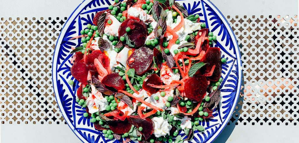 Summer Salad Recipe - Beetroot, Avocado and Pea