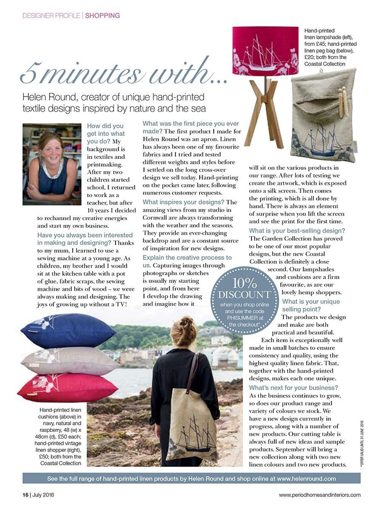 Period Homes and Interiors July 2016