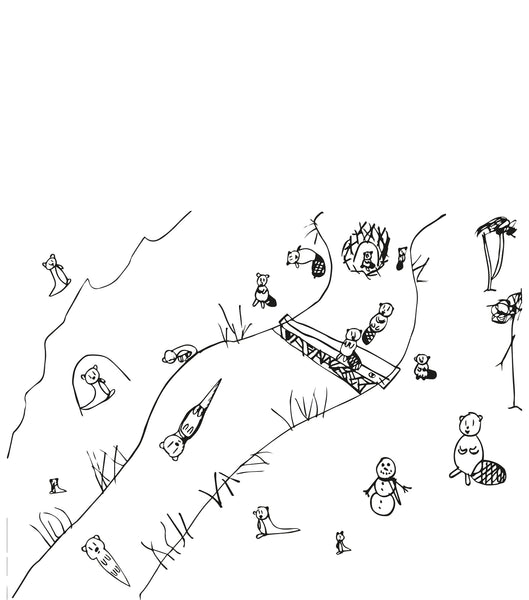 An Animal Map by Ebba