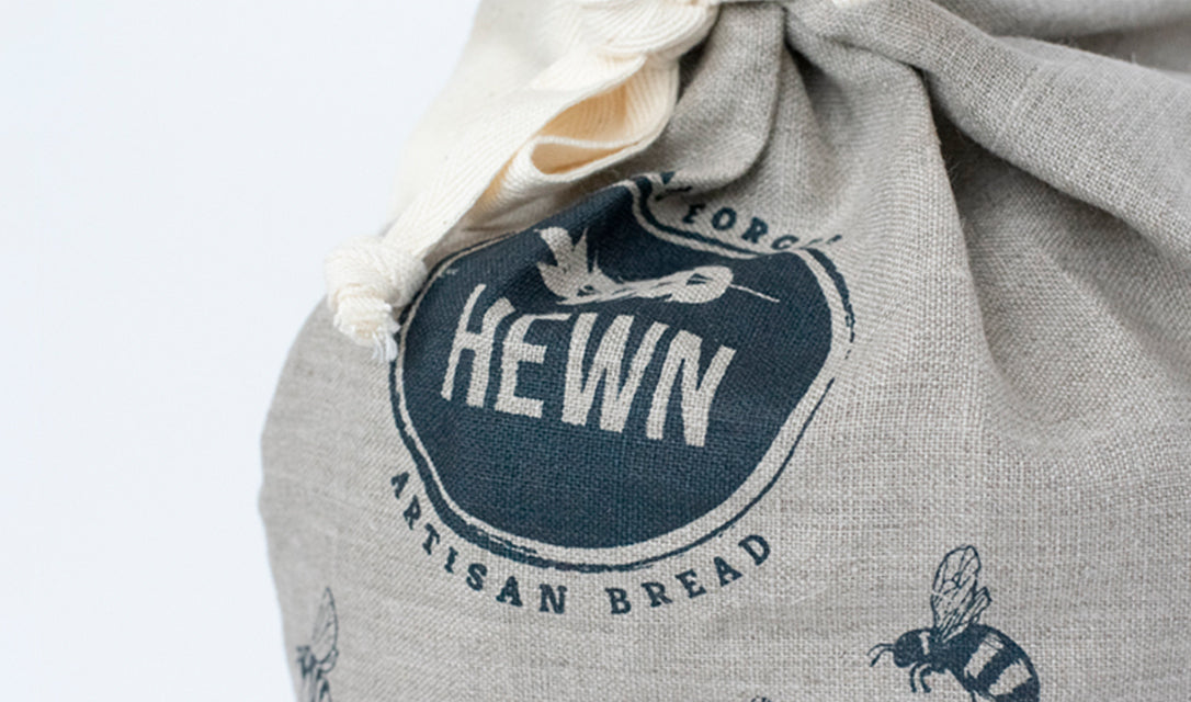 Bespoke Screen Printing Linen Bread Bag