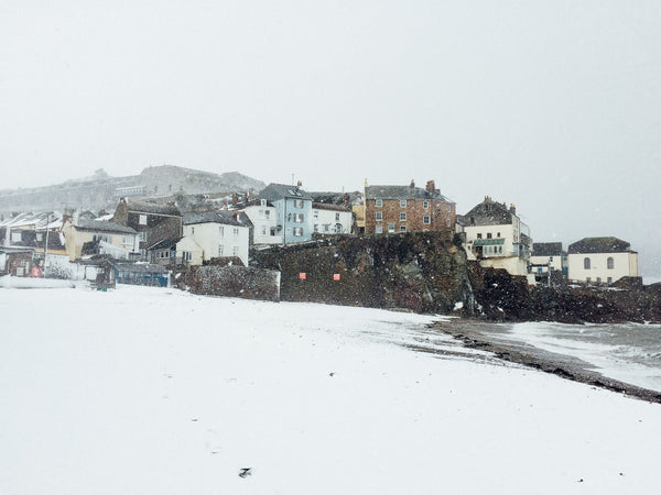 Cawsand Beach in the Snow
