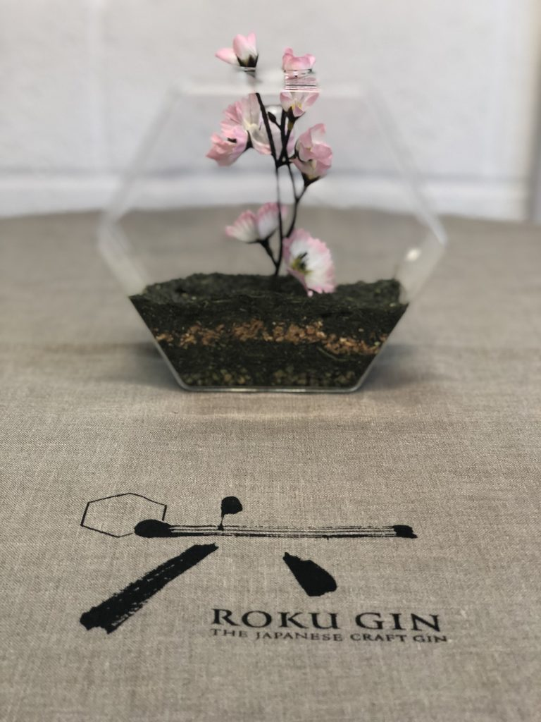 printed linen table cloth roku gin bespoke printing