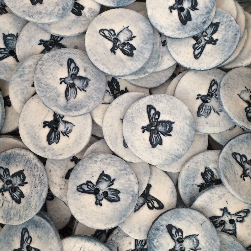 porcelain bee buttons