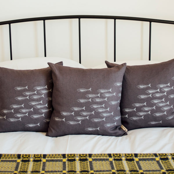Quayside Collection Cushions with Swimming Fish