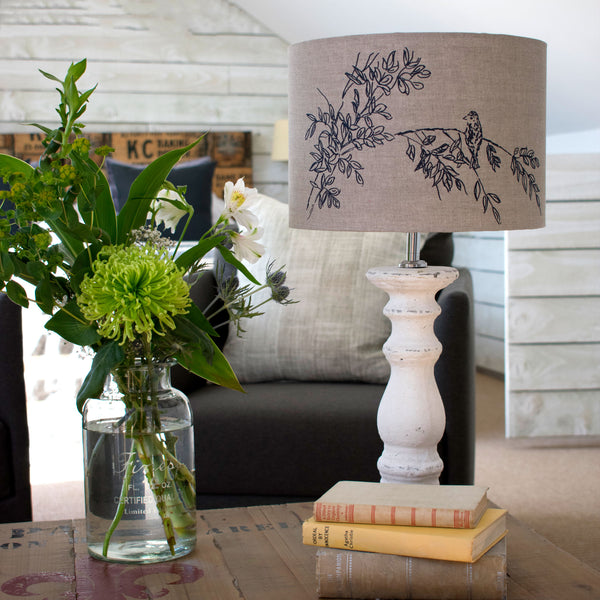 Natural Lampshade from the Bird Song Collection by Helen Round