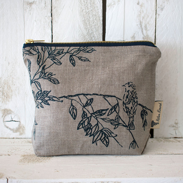Natural Toiletry Bag from the Bird Song Collection