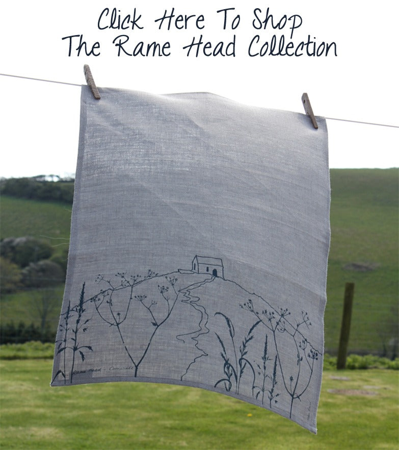 Rame Head Linen Tea Towel Helen Round