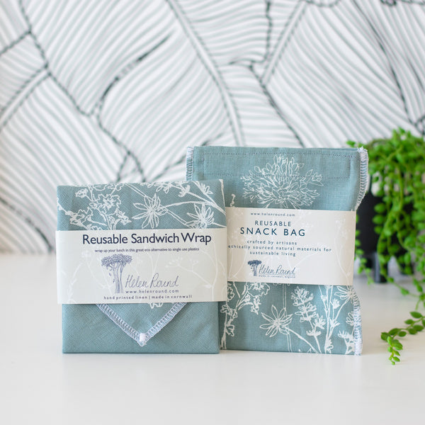 Eco Lunch Gift Set in Duck Egg Blue from the Garden Collection