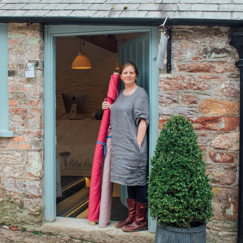Helen Round in the doorway of shop at The Barrow Centre, Mount Edgcumbe Park