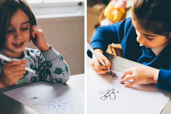 Children drawing inspired by nature