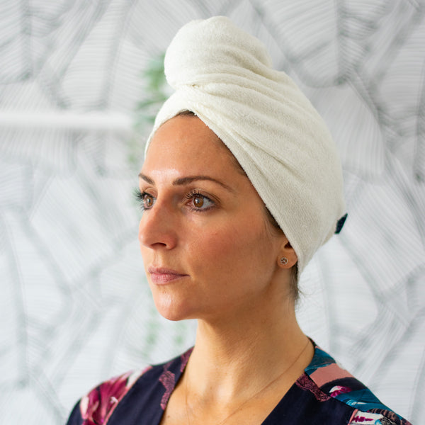 Reusable Bamboo Hair Wrap Towel by Helen Round