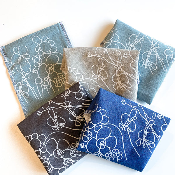 Flowers design on Sandwich Wrap and Snack Bag