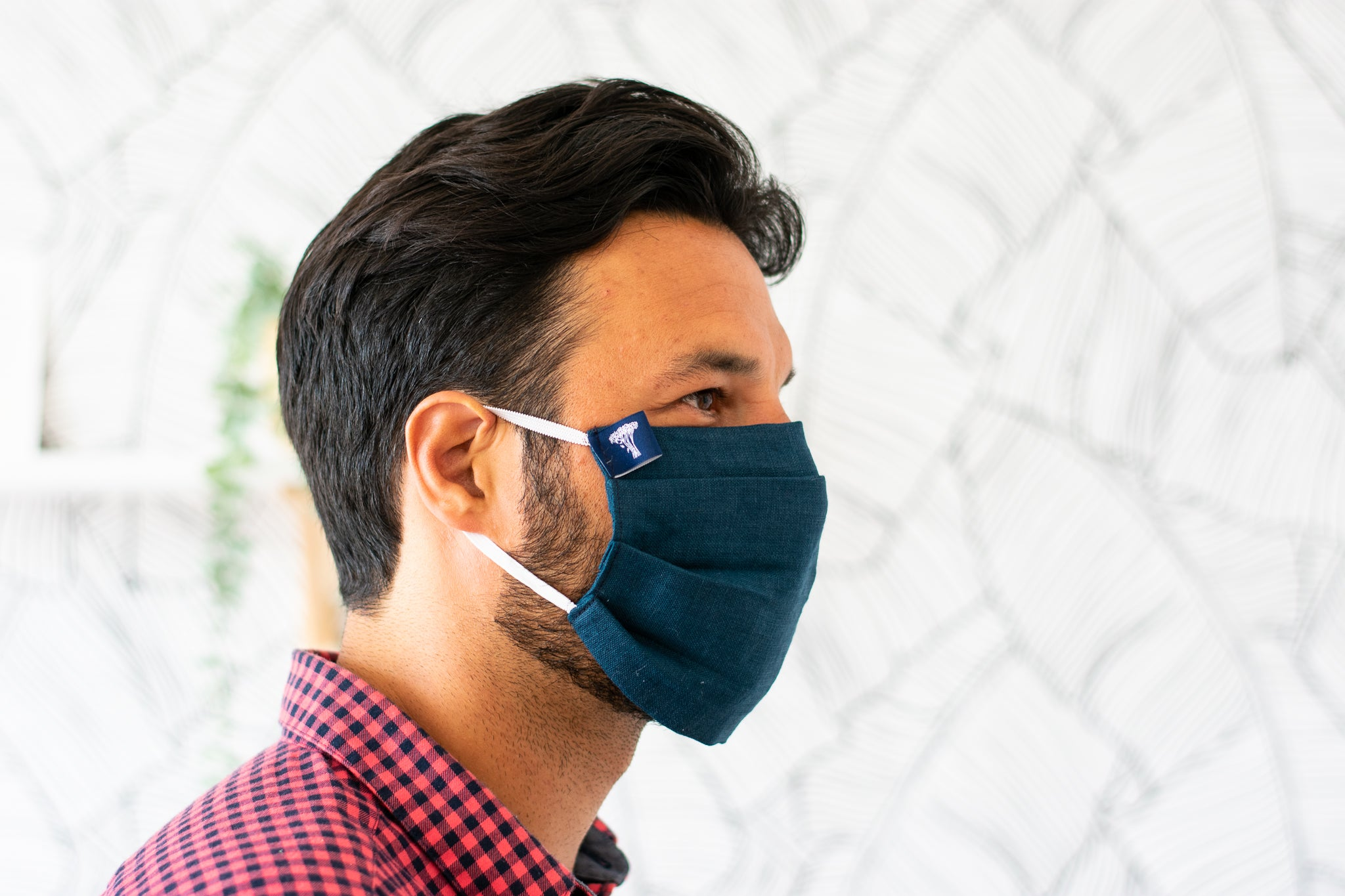 Breathable Linen Face Mask - loops