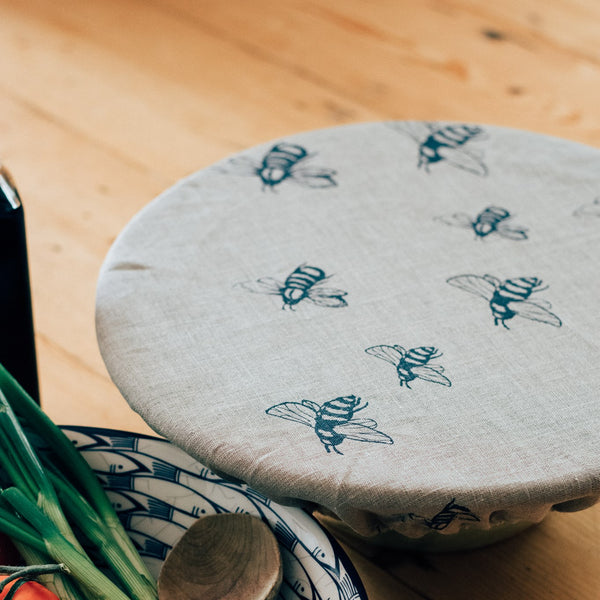 Large Bowl Cover Bee Design from The Honey Bee Collection by Helen Round