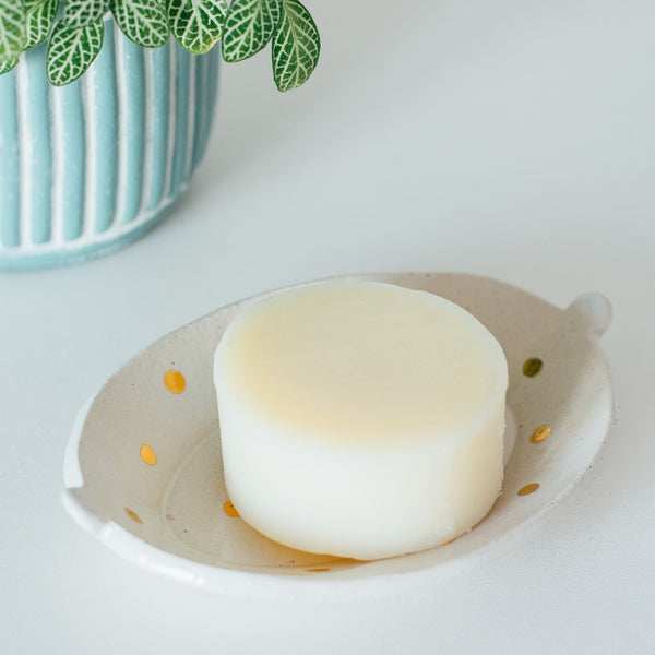 Ceramic Soap Dish Gold Spot with Soap