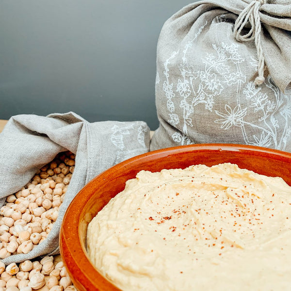 Phoebe's Yummy Hummus and Produce Bags from the Garden Collection by Helen Round