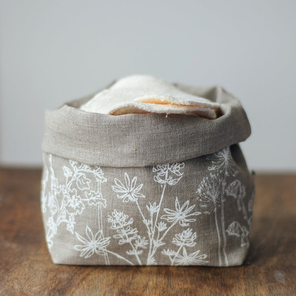 Fabric Storage Pot bamboo makeup wipes