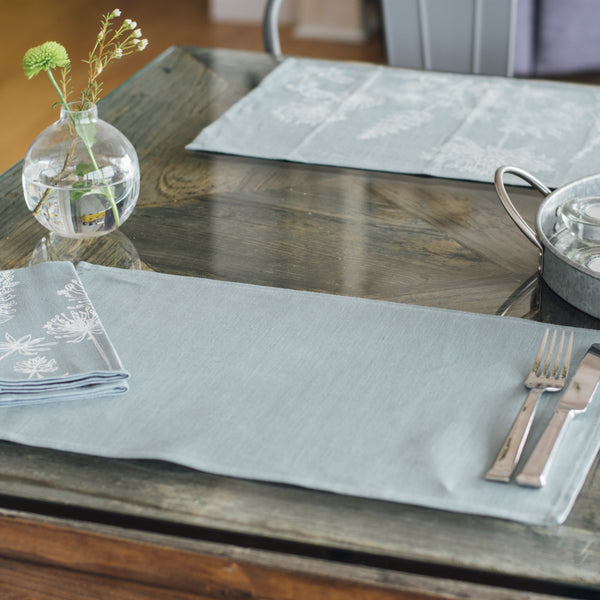 linen placemats duck egg blue