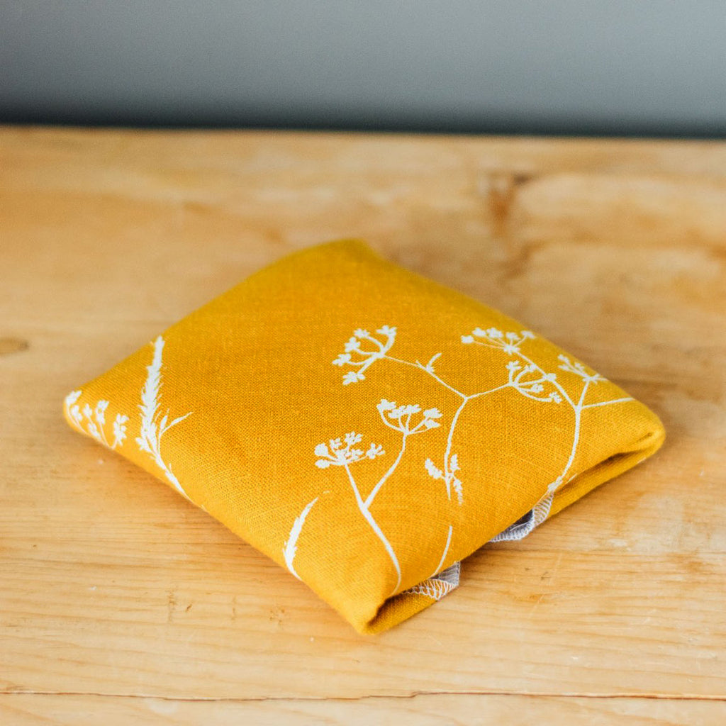Mustard Linen Sandwich Wrap from the Hedgerow Collection by Helen Round