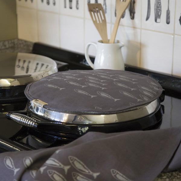 Quayside Aga Top Chefs pad/aga top in slate grey linen