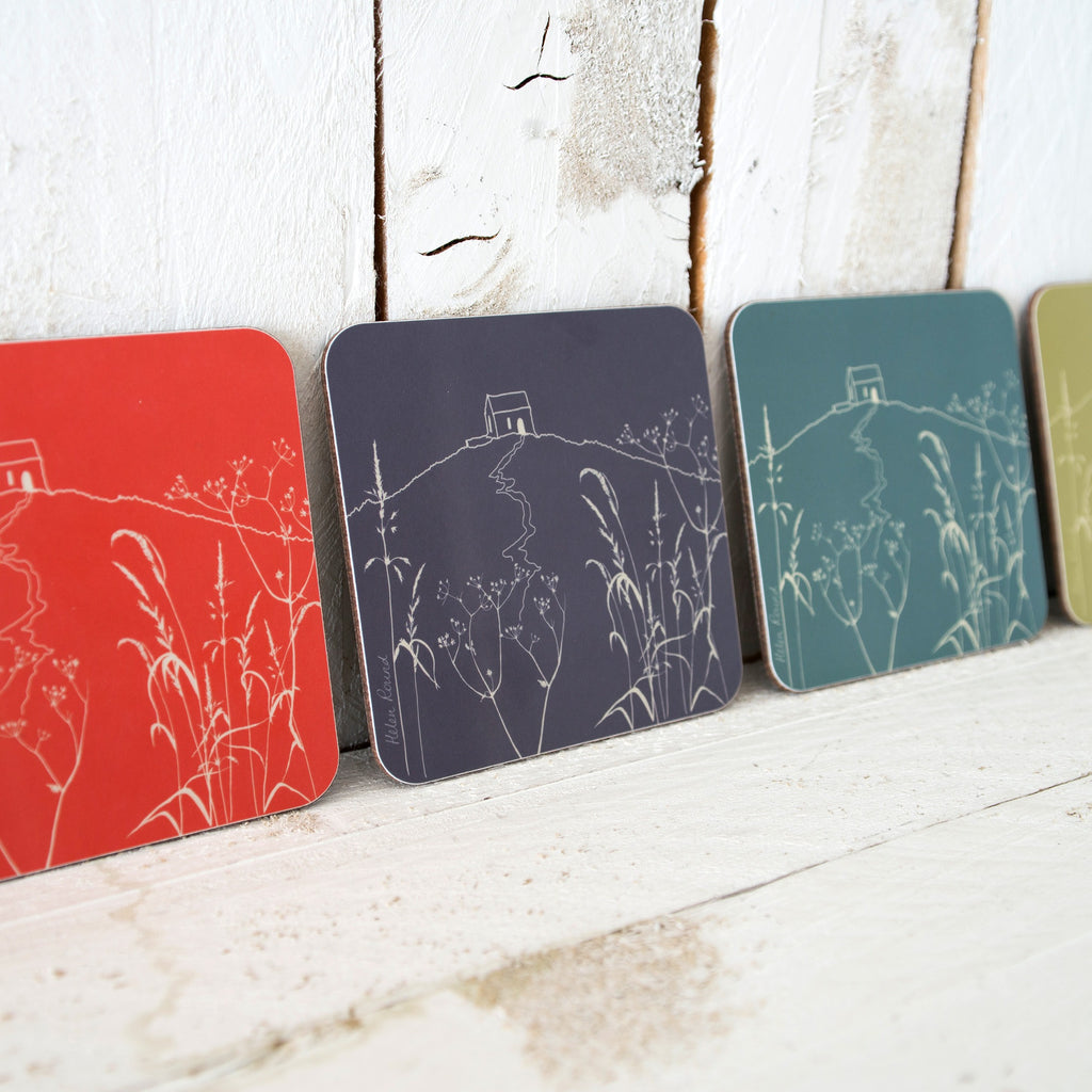 colourful rame head coasters