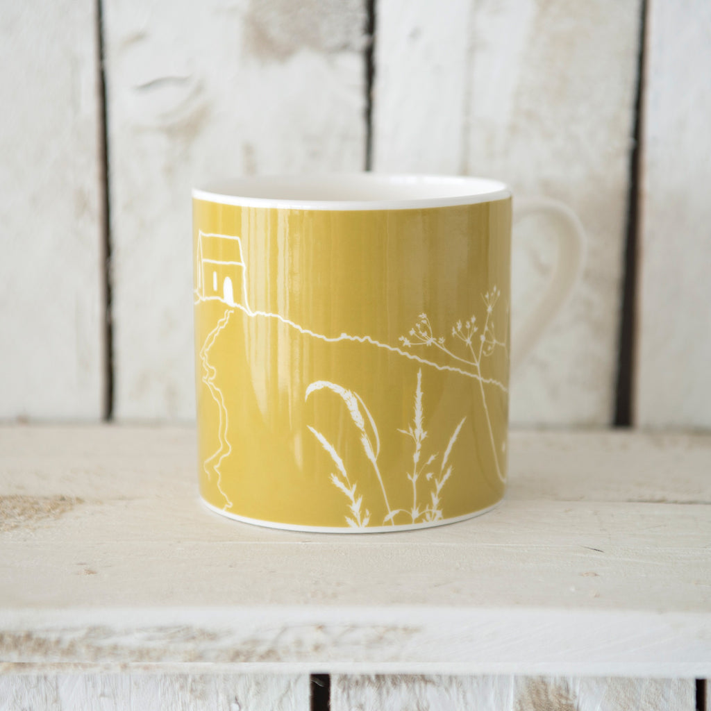 rame head mug green bone china