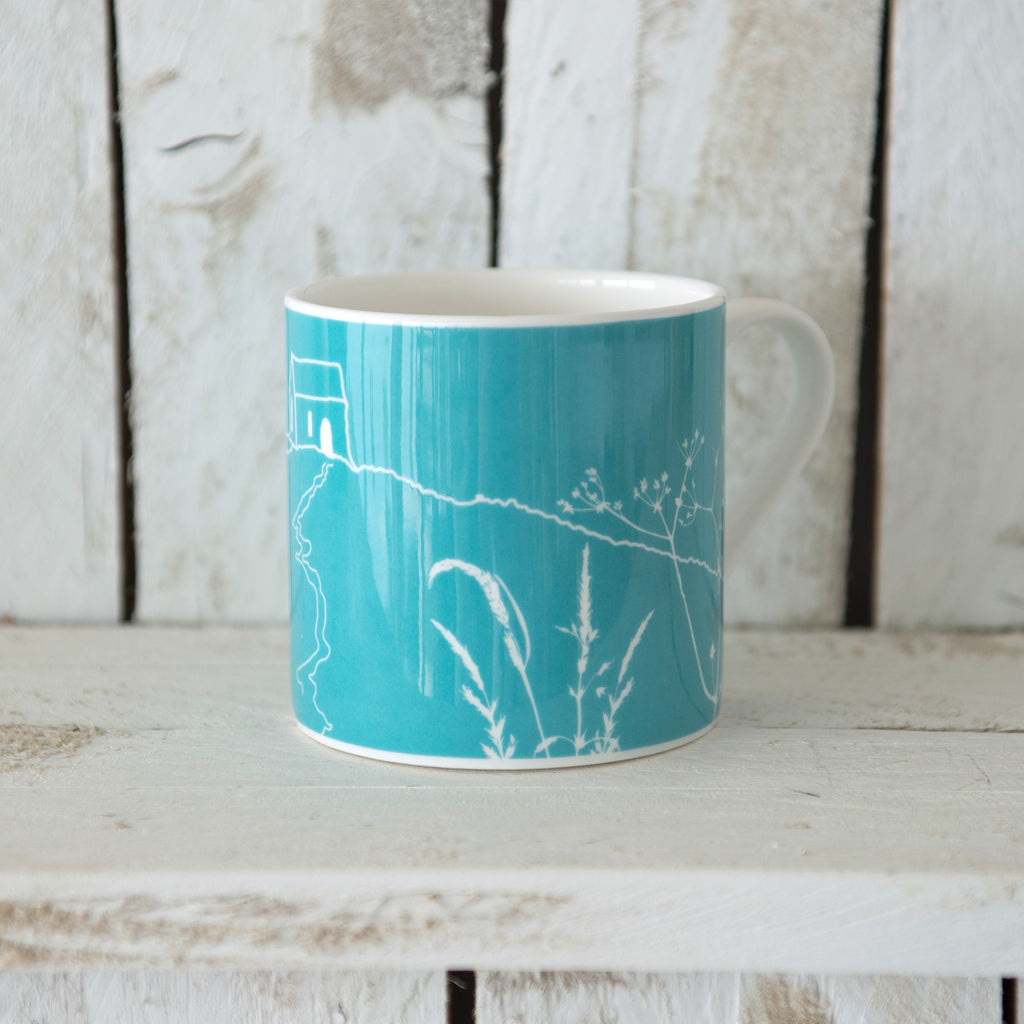 rame head mug blue bone china
