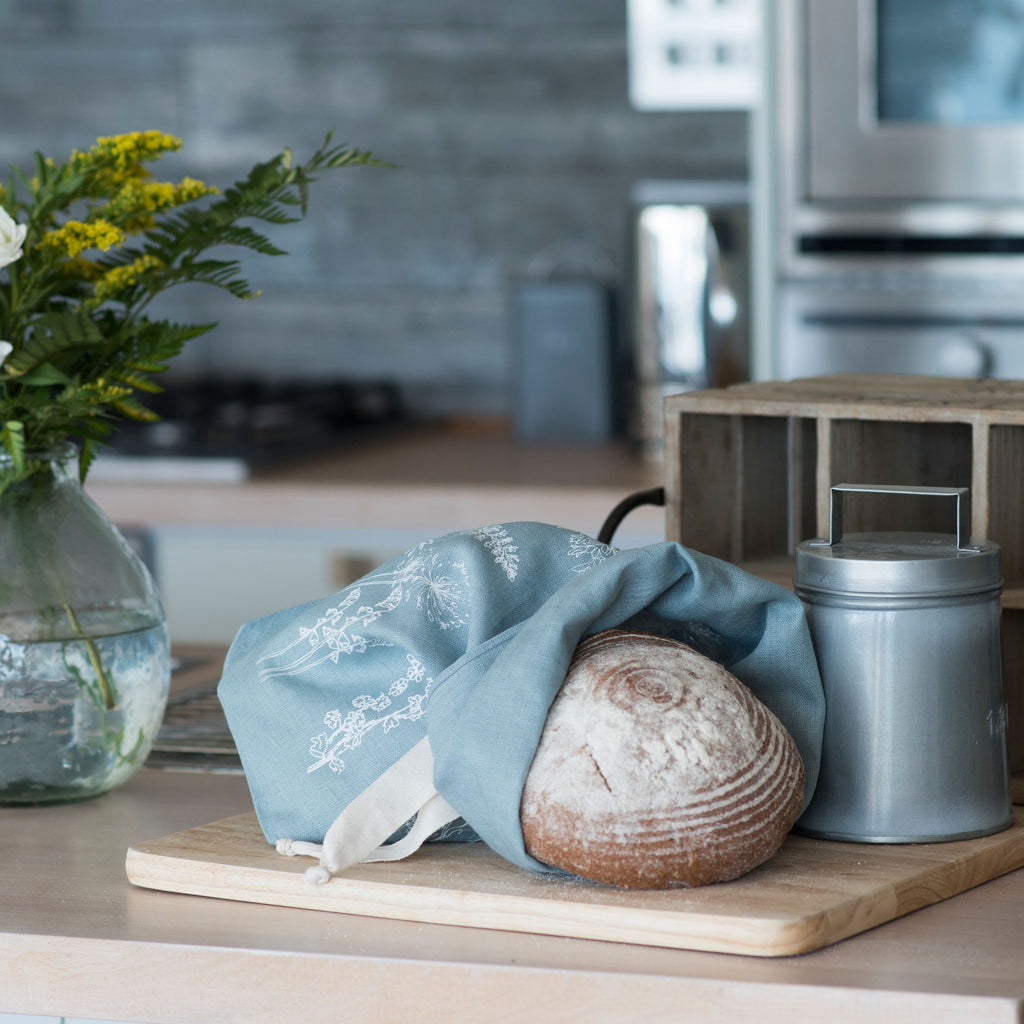 breathable linen bread bag storage for sourdough