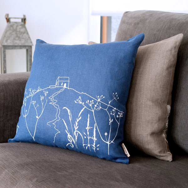blue rame head cushion