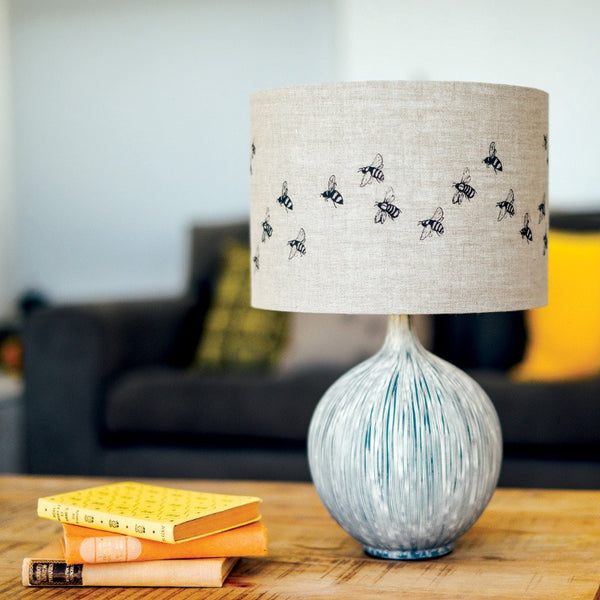 bee lampshade design natural linen lampshade 30cm