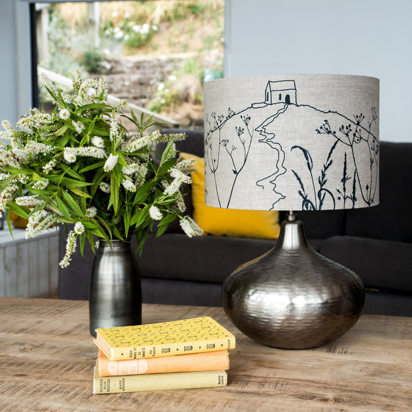 Rame Head linen lampshade in the colour natural 30cm