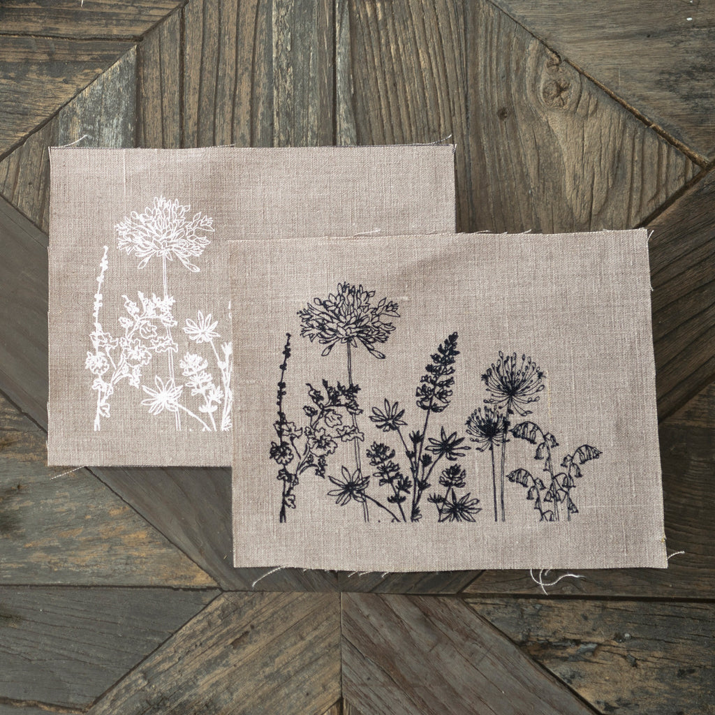 linen patchwork square garden collection