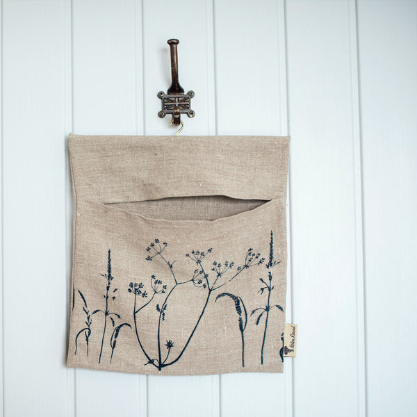 Linen peg bag hedgerow collection natural linen
