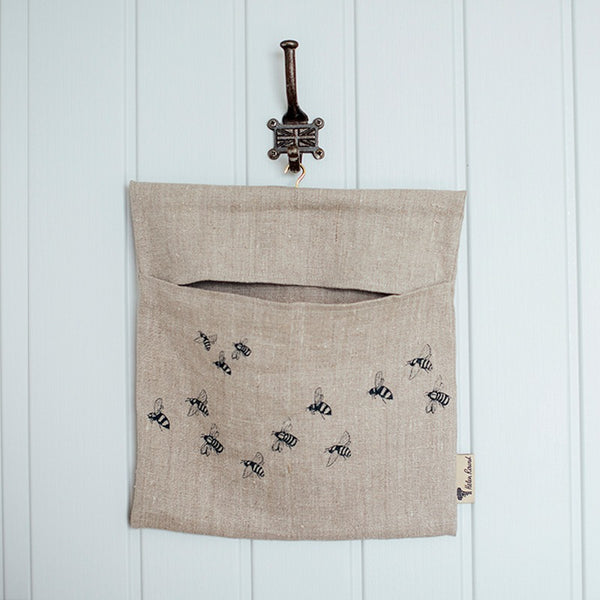 Honey bee linen peg bag