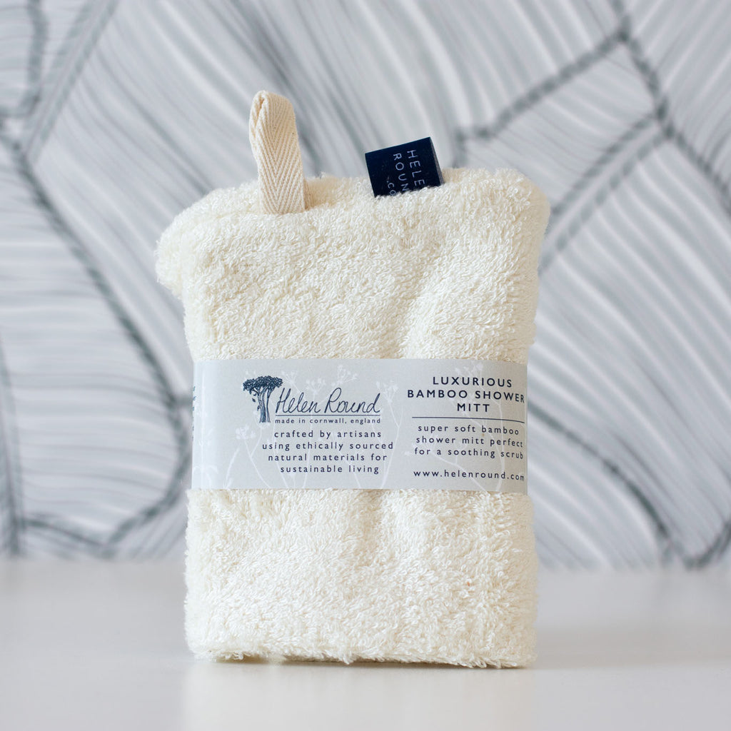 Bamboo Shower Mitt Gift Set
