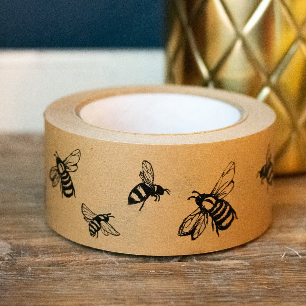 Biodegradable Packing Tape Bee Design - Helen Round
