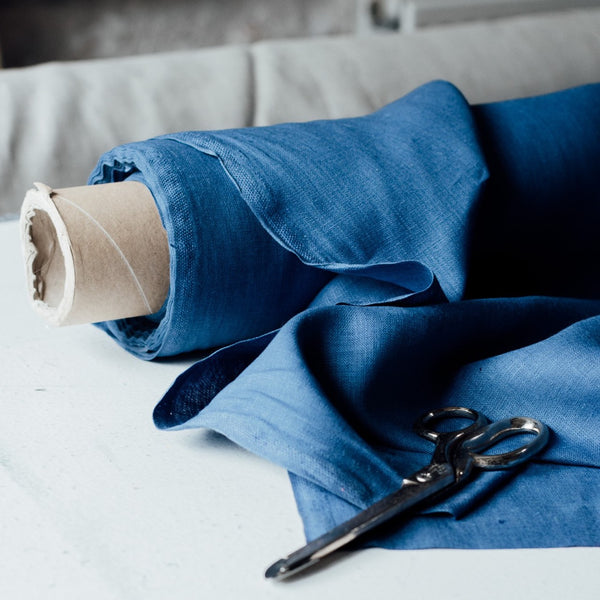 Indigo Blue Linen Fabric