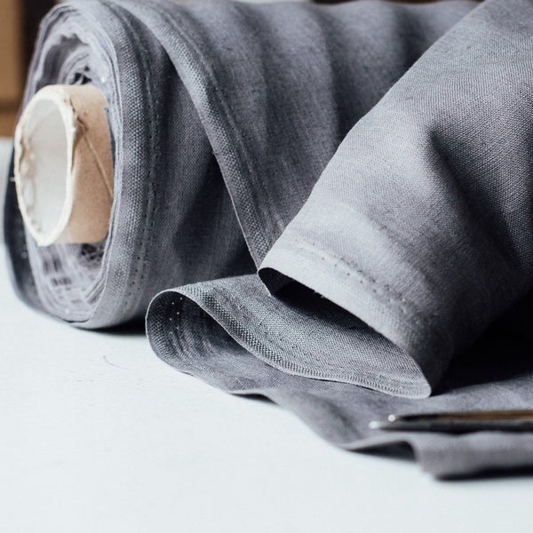 Grey Linen Fabric in the colour Slate Grey