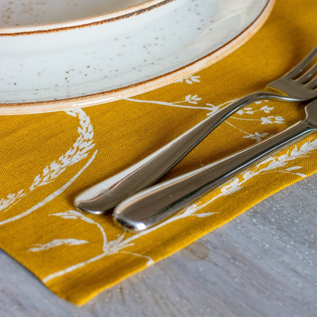 Screen Printed Linen Placemats