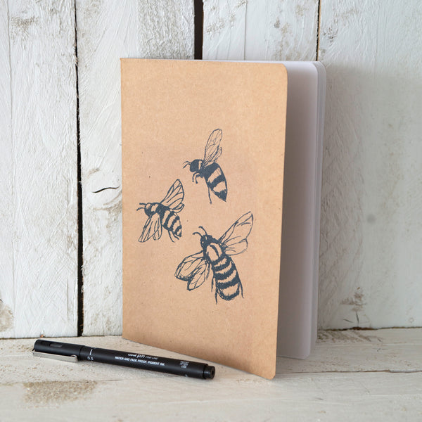A5 Honey Bee Notebook Helen Round