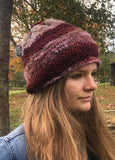 Convertible Hat-Slouchy-Messy Bun or Ponytail-Cowl