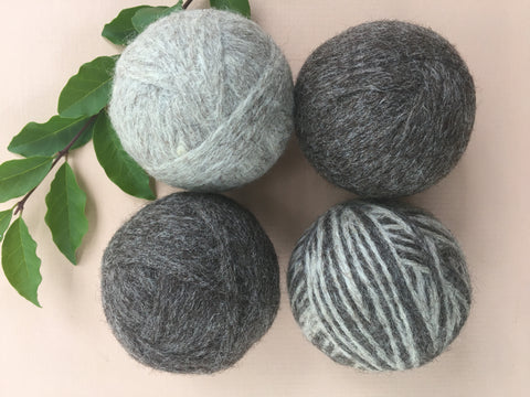 4 Handmade Dryer Wool Balls