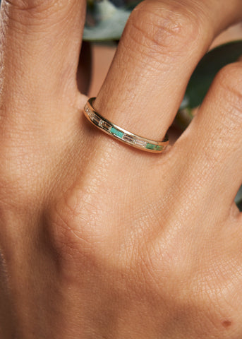 EAST WEST TURQUOISE DIAMOND RING